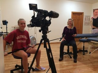Behind the scenes filming has always been on our favorite things to do. This was no exception thanks to Rebecca Dragseth of @tcmassageschool. This place rocks!